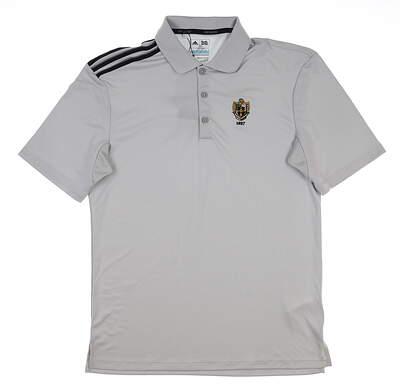 New W/ Logo Mens Adidas Golf Polo Small S Gray MSRP $60 AE6312 12