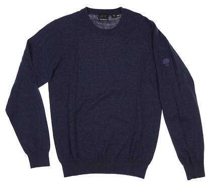 New W/ Logo Mens Greg Norman Sweater Small S Navy Blue MSRP $70