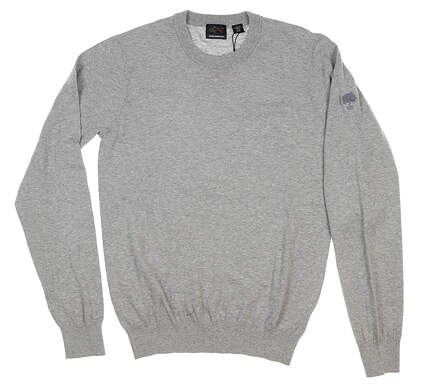 New W/ Logo Mens Greg Norman Sweater Small S Gray MSRP $70