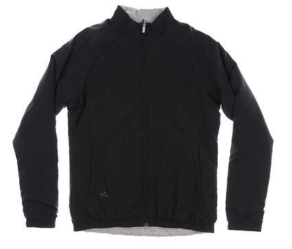 New Womens Adidas Reversible Quilted Golf Jacket Medium M Black MSRP $120 EK1401