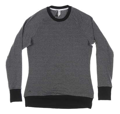 New Womens Adidas Long Sleeve Crew Neck Small S Gray MSRP $80 DT2334