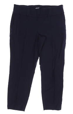 New Womens Jo Fit Slimmer Cropped Golf Pants Large L Navy Blue MSRP $96 GB032-MDN