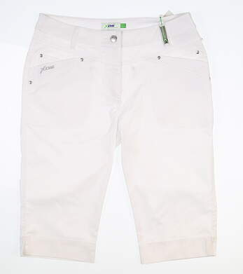 New Womens Daily Sports Bermuda Golf Shorts 8 White MSRP $120 643/283