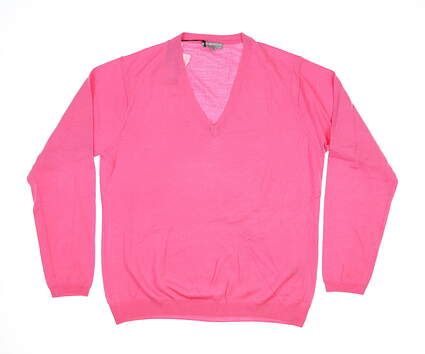New Womens Peter Millar V-Neck Sweater X-Large XL Pink MSRP $100