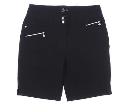 New Womens Daily Sports Golf Shorts 4 Black MSRP $110 001/215