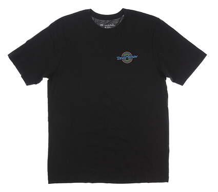 New Mens Travis Mathew Bar Hopper T-Shirt Medium M Black MSRP $35 1MK167