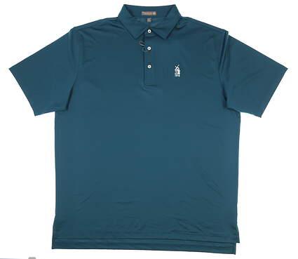New W/ Logo Mens Peter Millar Golf Polo X-Large XL Blue MSRP $79 MS18EK01S