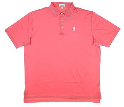 New W/ Logo Mens Peter Millar Golf Polo X-Large XL Pink MSRP $94