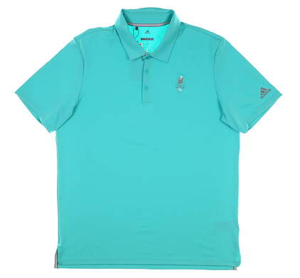 New W/ Logo Mens Adidas Ultimate 365 Polo Large L Blue MSRP $65 CY9429