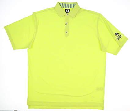 New W/ Logo Mens Footjoy Heather Lisle Polo X-Large XL Citrus MSRP $75 25774