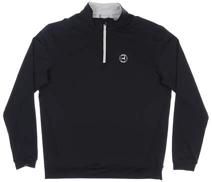 New W/ Logo Mens Level Wear 1/4 Zip Pullover Large L Black MSRP $79 LN50L