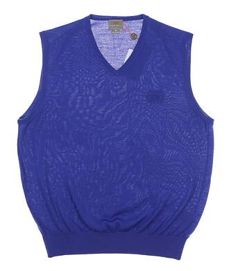 New W/ Logo Mens Fennec Solid Thermo Cool Sweater Vest Medium M Royal MSRP $100 152F101