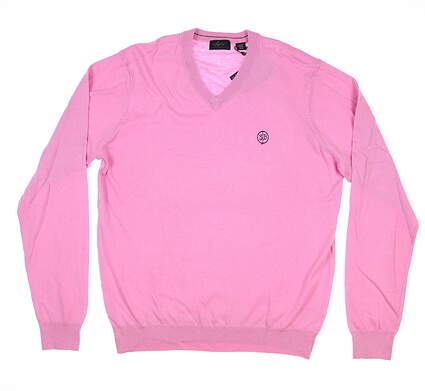 New W/ Logo Mens Greg Norman Sweater Large L Pink MSRP $105 G7F8S184