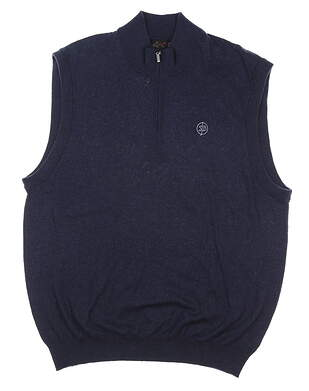 New W/ Logo Mens Greg Norman Sweater Vest X-Large XL Navy Blue MSRP $80 G7F8V132