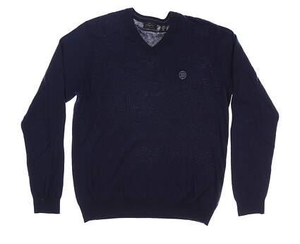 New W/ Logo Mens Greg Norman Sweater Medium M Blue MSRP $105 G7F8S184