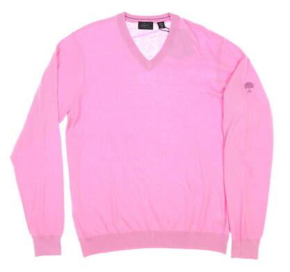 New W/ Logo Mens Greg Norman Sweater Medium M Pink MSRP $105 G7F8S184