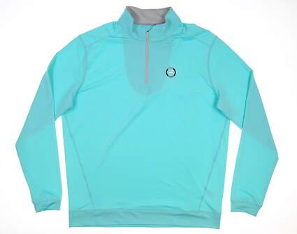 New W/ Logo Mens Level Wear 1/4 Zip Pullover Large L Blue MSRP $79