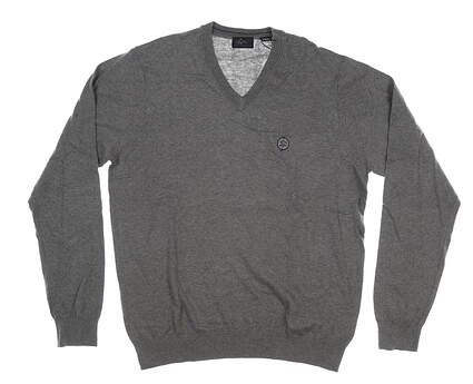 New W/ Logo Mens Greg Norman Sweater Medium M Gray MSRP $105 G7F8S184