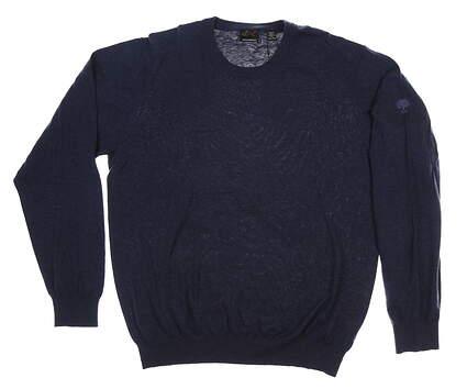 New W/ Logo Mens Greg Norman Sweater XX-Large XXL Navy Blue MSRP $80