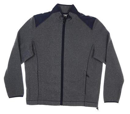 New Mens Cutter & Buck Cedar Park Fleece Jacket Large L Navy Blue MSRP $120