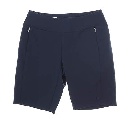 New Womens Cutter & Buck Shorts Medium M Navy Blue MSRP $100 LCB07135