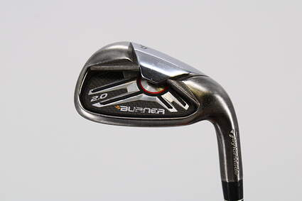 TaylorMade Burner 2.0 Single Iron Pitching Wedge PW True Temper Dynamic Gold R300 Steel Wedge Flex Right Handed 34.75in