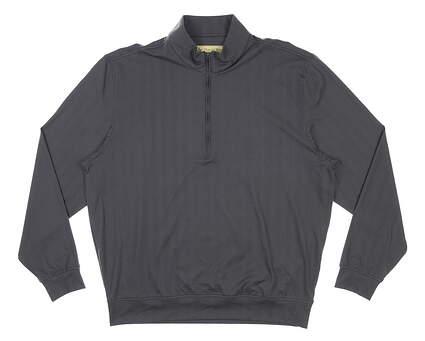 New Mens DONALD ROSS 1/4 Zip Golf Pullover Large L Black MSRP $145 DR181
