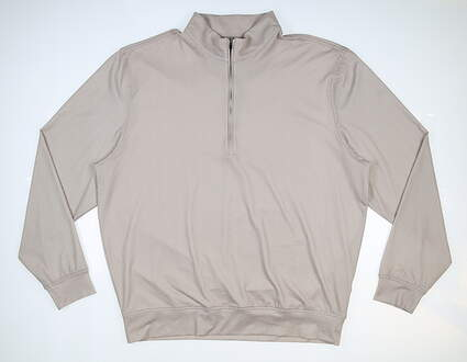 New Mens DONALD ROSS 1/4 Zip Golf Pullover Large L Tan MSRP $145 DR181