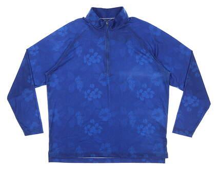 New Mens DONALD ROSS 1/4 Zip Golf Pullover Large L Blue MSRP $145 SP200