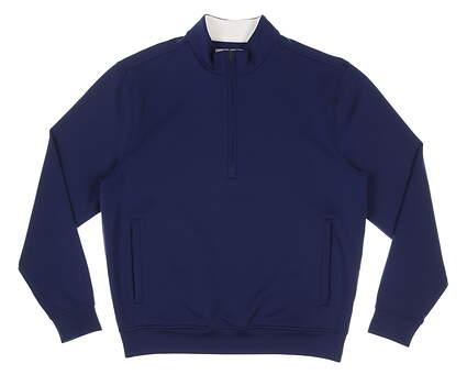 New Mens DONALD ROSS 1/4 Zip Golf Pullover Medium M Navy Blue MSRP $145 DR296LS