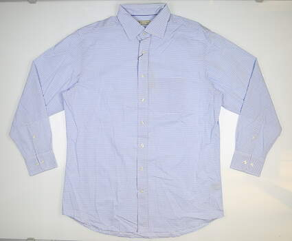 New Mens DONALD ROSS Button Down Large L Blue MSRP $145 DR854