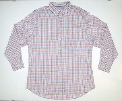 New Mens DONALD ROSS Button Down Large L Multi MSRP $145 DR581