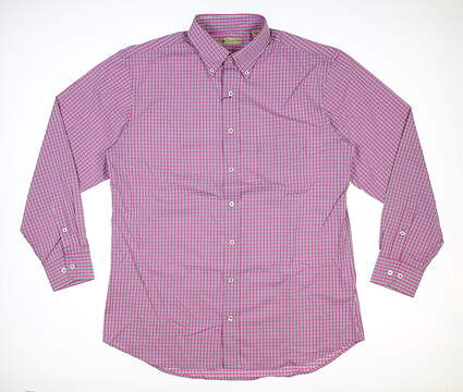 New Mens DONALD ROSS Button Down Medium M Pink MSRP $145 DR611