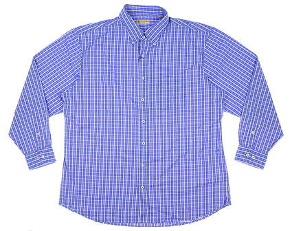 New Mens DONALD ROSS Button Up X-Large XL Blue MSRP $145 DR621