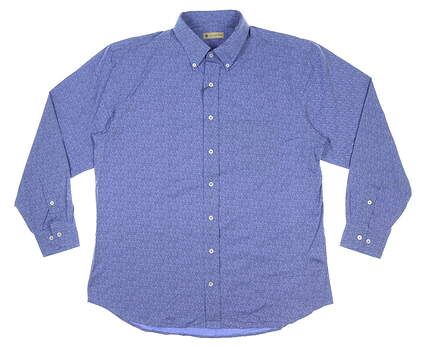New Mens DONALD ROSS Button Up Large L Blue MSRP $145 DR615