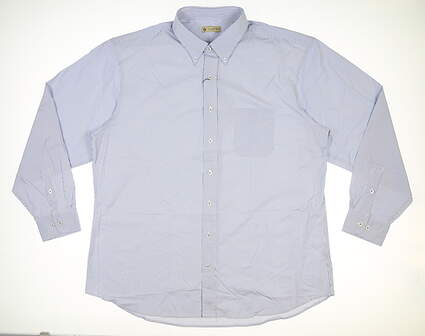 New Mens DONALD ROSS Button Up X-Large XL Blue MSRP $145 DR618