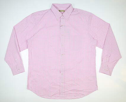 New Mens DONALD ROSS Button Up Large L Pink MSRP $145 DR614