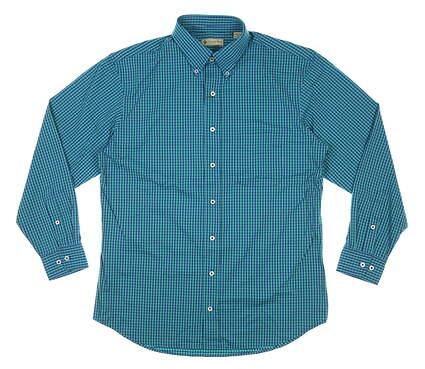 New Mens DONALD ROSS Button Up Medium M Green MSRP $145 DR632