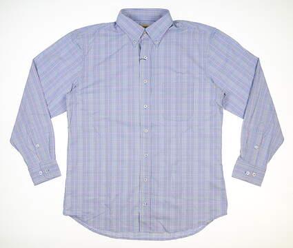 New Mens DONALD ROSS Button Up Medium M Blue MSRP $145 DR616