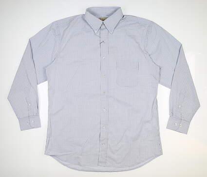 New Mens DONALD ROSS Button Up Medium M Blue MSRP $145 DR612