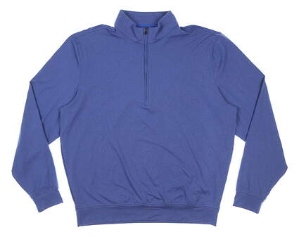 New Mens DONALD ROSS 1/4 Zip Golf Pullover Large L Blue MSRP $145 DR201LS