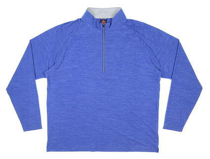 New Mens DONALD ROSS 1/4 Zip Wyatt Golf Pullover Large L Blue MSRP $145 SP500
