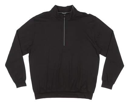 New Mens DONALD ROSS 1/4 Zip Golf Pullover Large L Black MSRP $145 DR1250