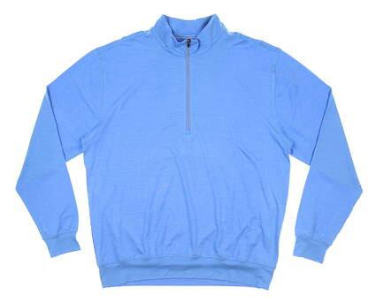 New Mens DONALD ROSS 1/4 Zip Golf Pullover Large L Blue MSRP $145 DR1520