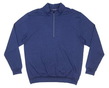 New Mens DONALD ROSS 1/4 Zip Golf Pullover Large L Navy Blue MSRP $145 DR1250