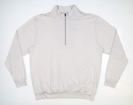 New Mens DONALD ROSS 1/4 Zip Golf Pullover Large L Gray MSRP $145 DR1250