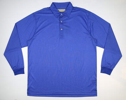 New Mens DONALD ROSS Long Sleeve Golf Polo Large L Blue MSRP $100 DRP025LS