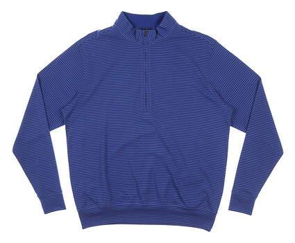 New Mens DONALD ROSS 1/4 Zip Pullover Small S Blue MSRP $145 DR211SLSB