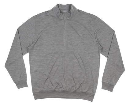 New Mens DONALD ROSS 1/4 Zip Pullover Medium M Gray MSRP $145 DR211LS