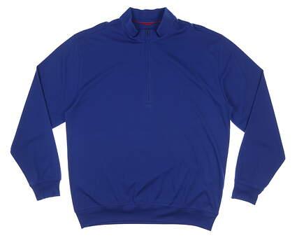 New Mens DONALD ROSS 1/4 Zip Golf Pullover Large L Blue MSRP $145 DR211PLS